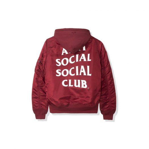 Anti Social Social Club Smog MA1 Alpha Jacket (FW19) Burgundy