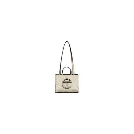 Telfar Shopping Bag Medium Bronze in Vegan Leather with Silver-tone