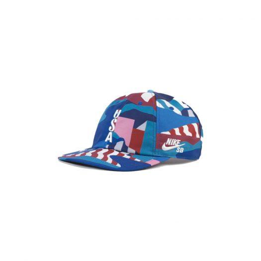 Nike SB x Parra USA Federation Kit Skate Cap Brave Blue/White