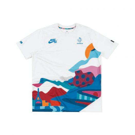 Nike SB x Parra France Federation Kit Crew Jersey White/Neptune Blue