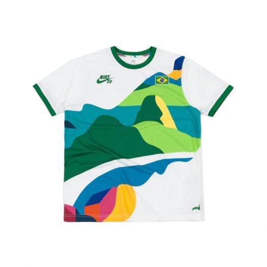 Nike SB x Parra Brazil Federation Kit Crew Jersey White/Clover