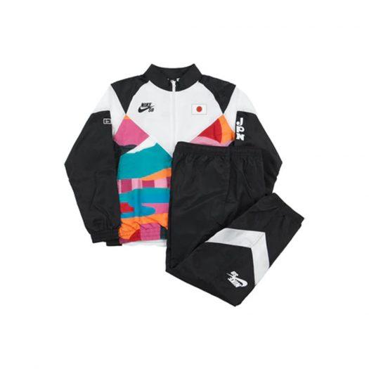 Nike SB x Parra Japan Federation Kit Skate Tracksuit Black/White