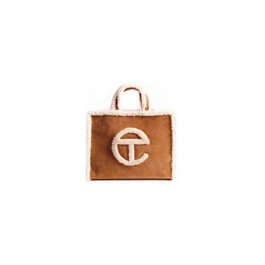 UGG x Telfar Shopping Bag Medium Chestnut in Shearling