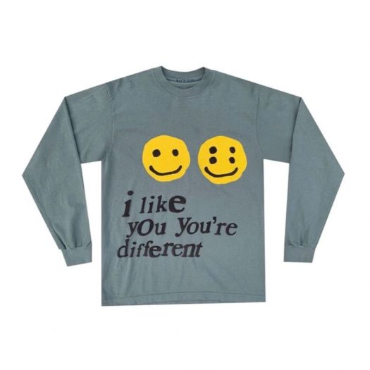 Cactus Plant Flea Market I Like You You're Different L/S Tee Grey