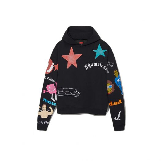 Cactus Plant Flea Market x Marc Jacobs Tattoo Hooded Pullover Sweatshirt Black