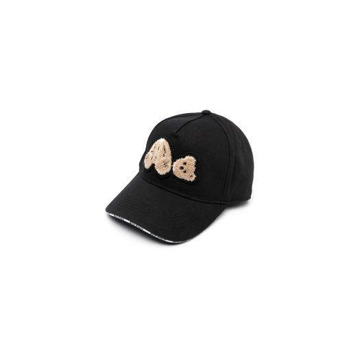 Palm Angels Bear Motif Baseball Cap Black