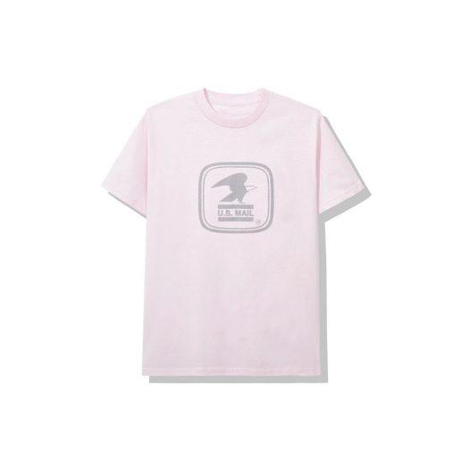 Anti Social Social Club x USPS Work Tee Pink
