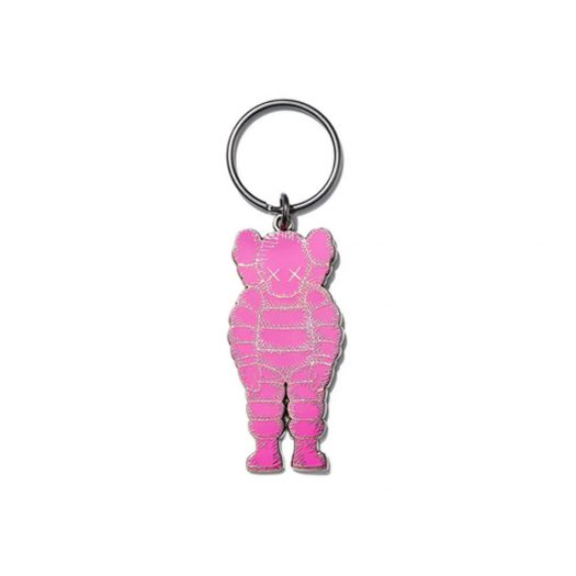 KAWS Brooklyn Museum WHAT PARTY Keychain Pink