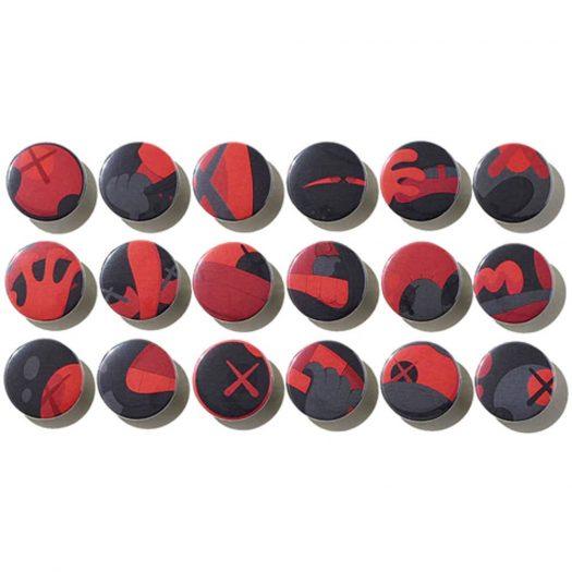 KAWS Tokyo First Button Badges Set