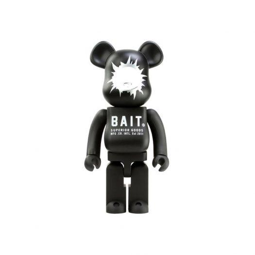 Bearbrick BAIT x Medicom Headshot 1000% Black