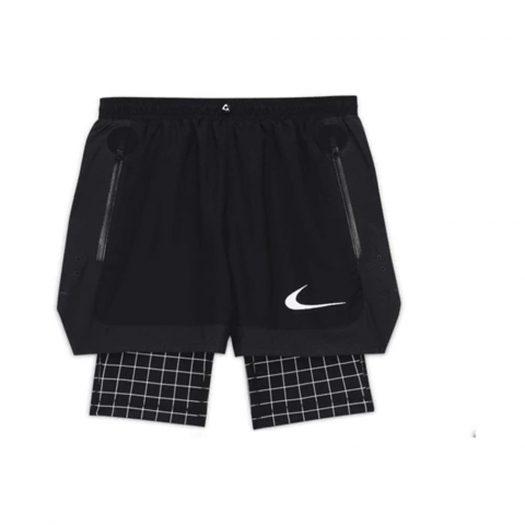 OFF-WHITE x Nike Shorts Black Grid