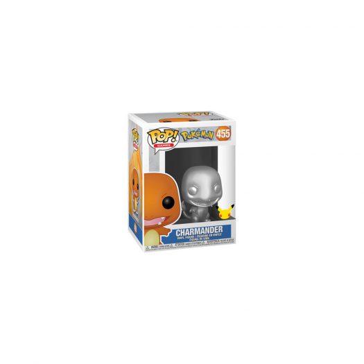 Funko Pop! Games Pokemon Charmander (Silver Metallic) 25th Anniversary Figure #455