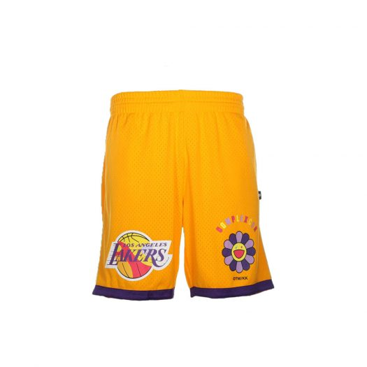 Takashi Murakami ComplexCon x LA Lakers M&N Basketball Shorts Yellow