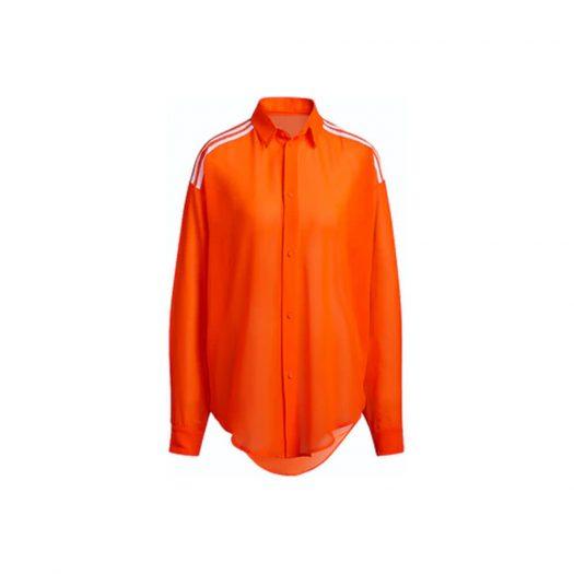 adidas Ivy Park Swim Cover-Up Shirt Solar Orange