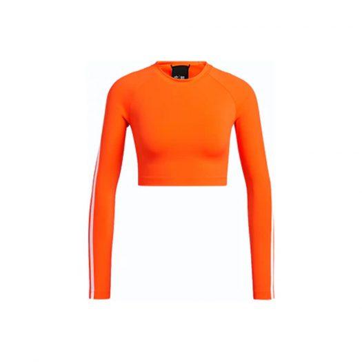adidas Ivy Park Rash Guard Top Solar Orange