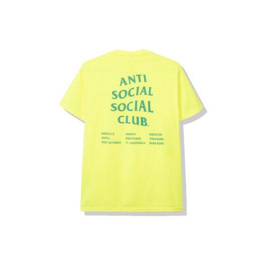 Anti Social Social Club Club Med Tee Neon Green