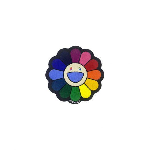 Takashi Murakami Flower Floor Mat Rug Rainbow/Ecru Beige