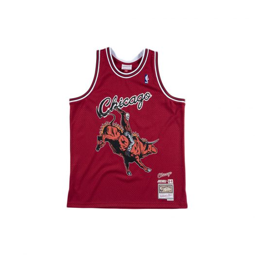 Mitchell & Ness Juice WRLD x Chicago Bulls Swingman Jersey Red