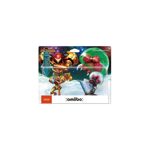 Nintendo Samus Aran & Metroid amiibo Figure (2 pack) (NVLEAR2A)