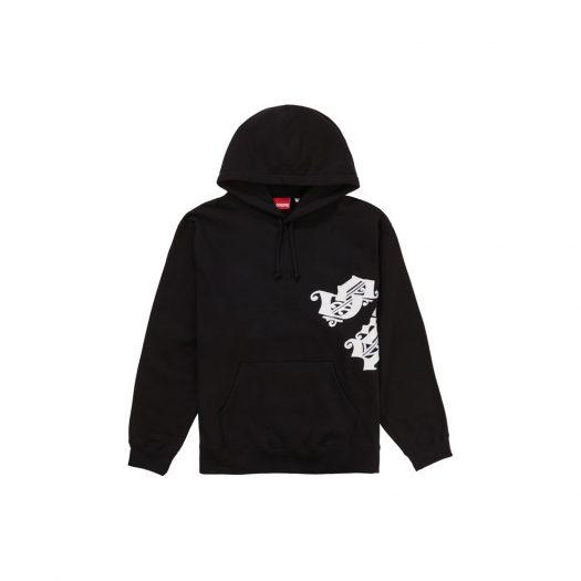 Supreme Old English Wrap Hooded Sweatshirt Black