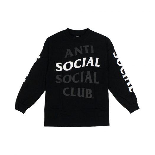 Anti Social Social Club Highlight Long sleeve T-Shirt Black