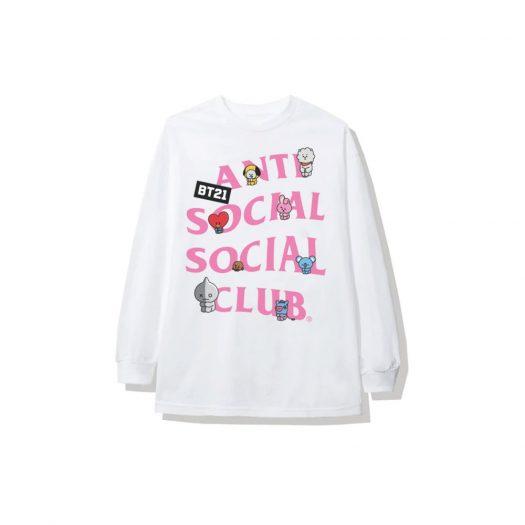 Anti Social Social Club x BT21 Back Track Long Sleeve Tee (FW19) White