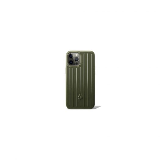 Rimowa Polycarbonate Cactus Green Groove Case for iPhone 12 Pro Max in Polycarbonate