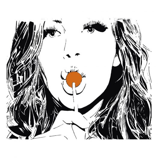 GIRL WITH THE LOLLIPOP **Hand Finished** Choose your colour of lollipop