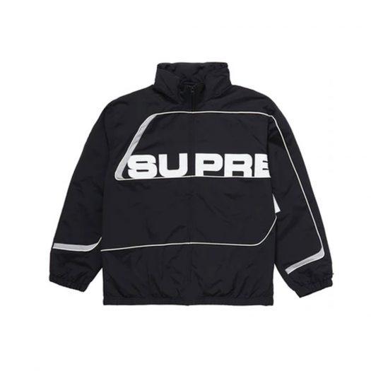 Supreme S Paneled Track Jacket Black
