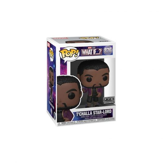 Funko Pop! Marvel Studios What If...? T'Challa Star-Lord FYE Exclusive Figure #876