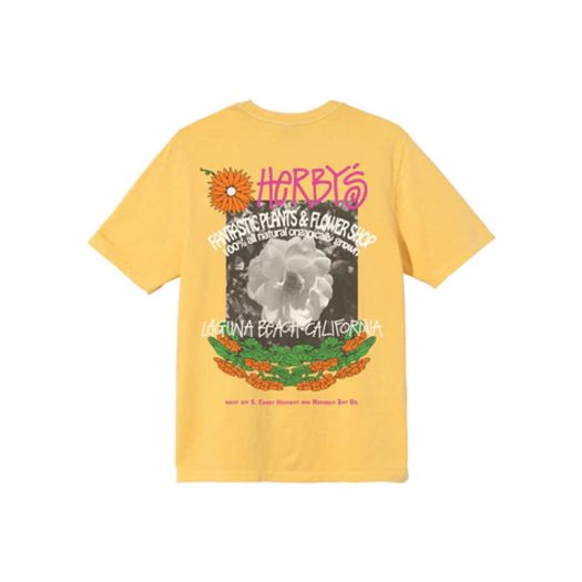 Stussy Herby's Dyed T-shirt Yellow