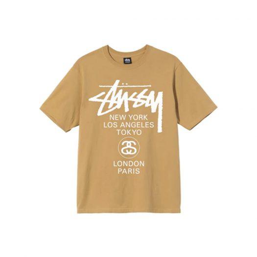 Stussy World Tour T-shirt Khaki
