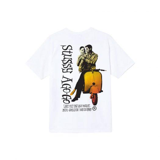 Stussy A Go Go T-shirt White