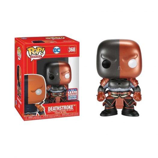 Funko Pop! Heroes DC Deathstroke Metallic 2021 Summer Convention Exclusive Figure #368