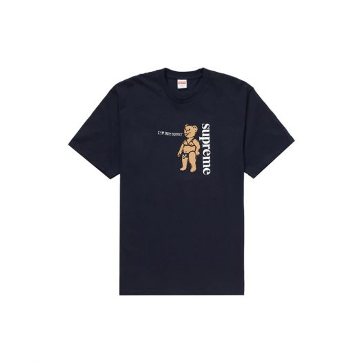 Supreme Not Sorry Tee Navy