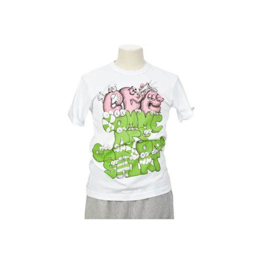 CDG Shirt x KAWS T-shirt White/Green/Pink