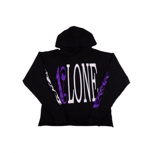Vlone x Palm Angels Hoodie Black/Purple