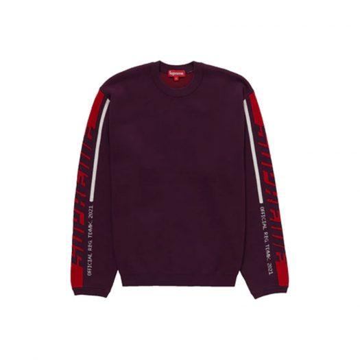 Supreme Sleeve Stripe Sweater Plum