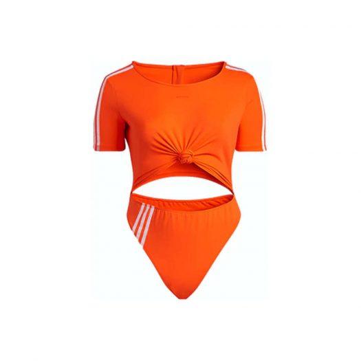 adidas Ivy Park Knot Swimsuit (Plus Size) Solar Orange