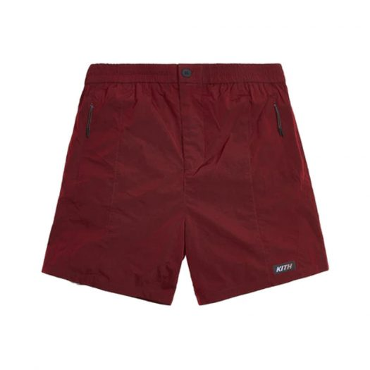 Kith Solid Sporty Wrinkle Short Red Dahlia