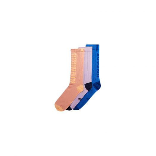 adidas Ivy Park Ribbed Marble Socks (3 Pairs) Ambient Blush/Purple Glow/Glory Blue