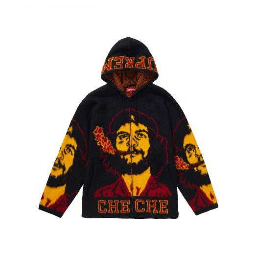 Supreme Che Hooded Zip Up Sweater Black