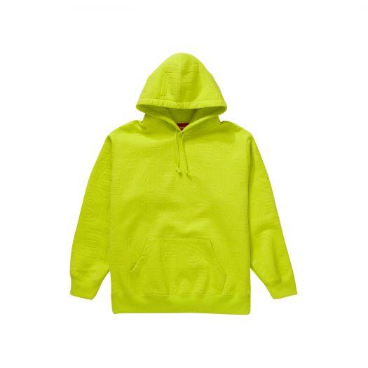 Supreme Embossed Logos Hooded Sweatshirt Acid Green