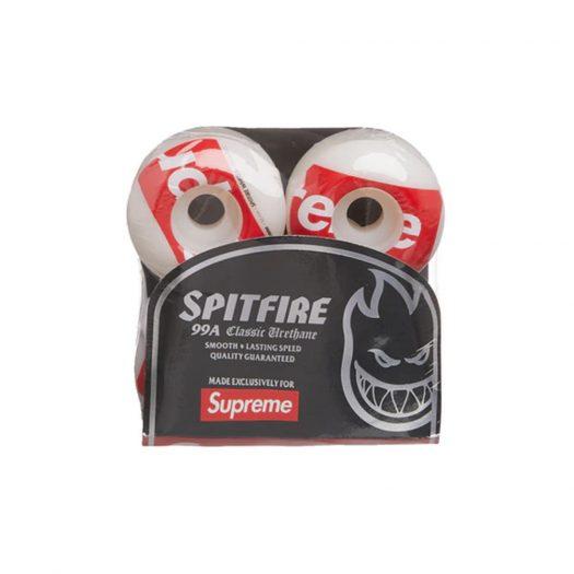 Supreme x Spitfire Shop Logo Wheels White