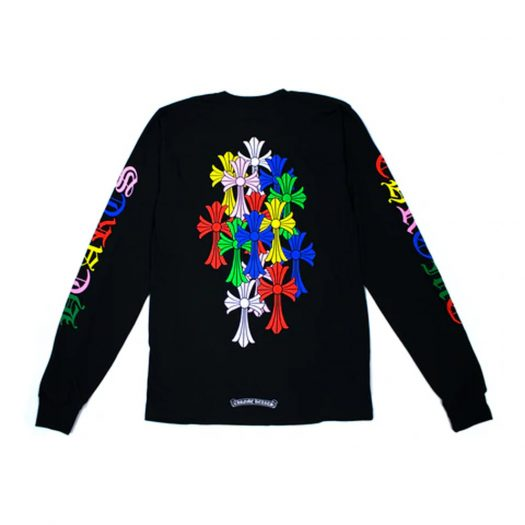 Chrome Hearts Multi Color Cross Cemetery L/S T-shirt Black