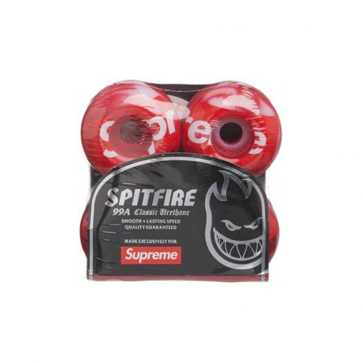 Supreme x Spitfire Shop Logo Wheels Red