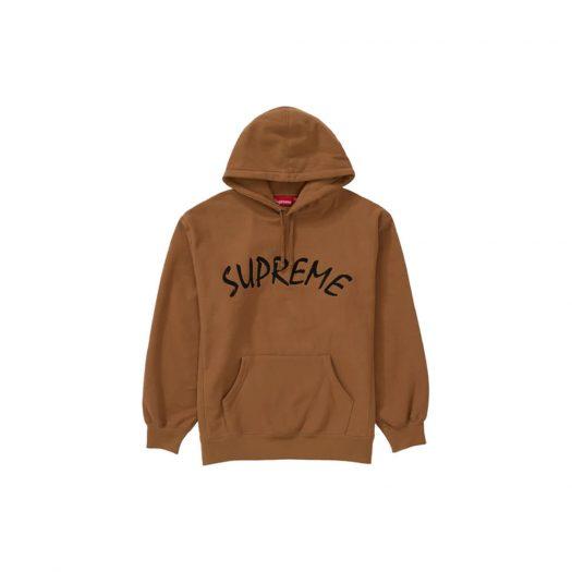 Supreme FTP Arc Hooded Sweatshirt Brown