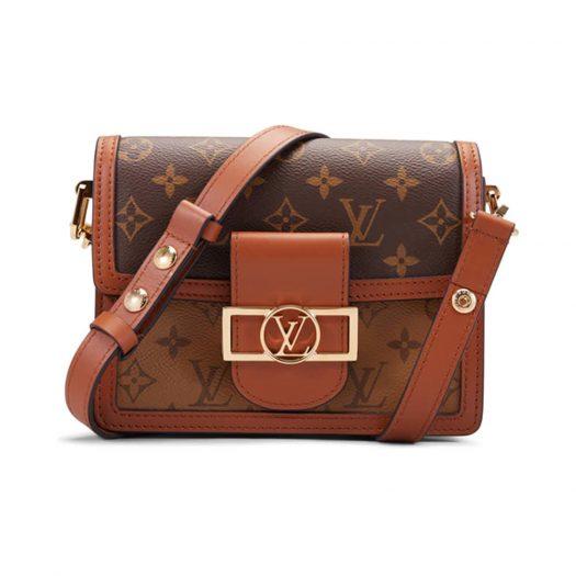 Louis Vuitton Mini Dauphine Monogram Reverse Brown