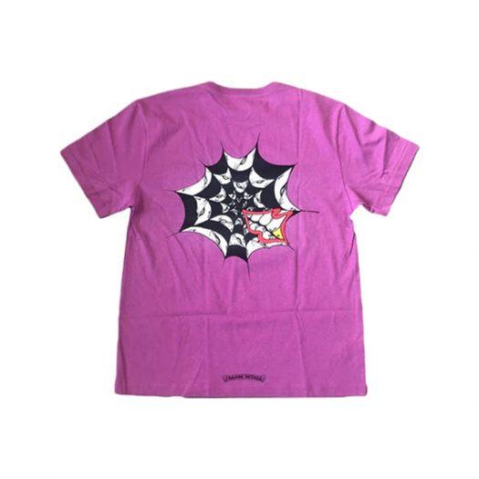 Chrome Hearts Matty Boy Spider Web T-shirt Purple