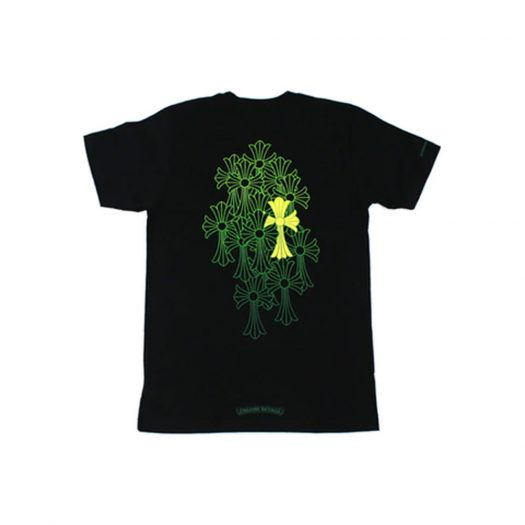 Chrome Hearts Cemetery T-shirt Black/Yellow/Green
